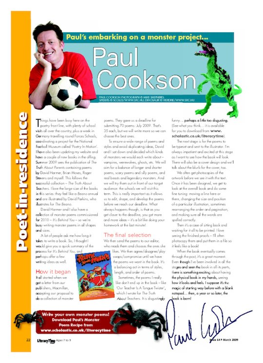 Paul Cookson - a 'monster' project