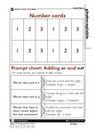 Number cards and Prompt Sheet: adding _-er_ and _-est_ (1 page)