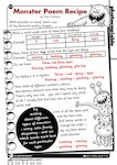 Monster Poem recipe (1 page)