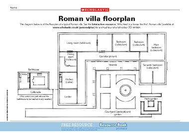 Roman Villa Floor Plan Free Primary Ks2 Teaching