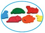 FREE pack of six dinosaur crayons