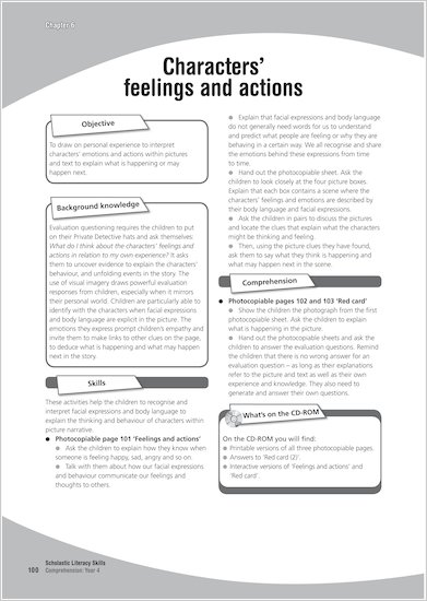 Characters' feelings and actions