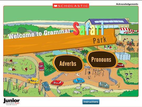 Grammar safari park - adverbs and pronouns interactive