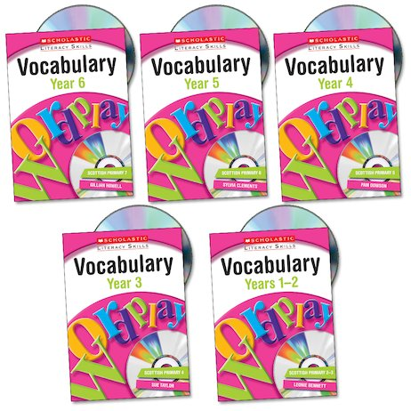 Scholastic Literacy Skills: Vocabulary Set x 5