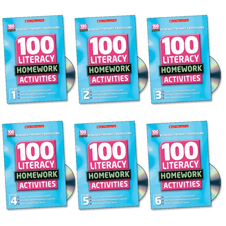 100 Literacy Homework Activities Complete Set