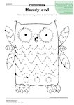Handy owl (1 page)