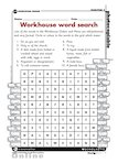 My life in the workhouse - word search (1 page)