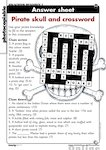 Pirate skull and crossword - answer sheet (1 page)