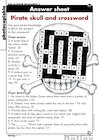Pirate skull and crossword – answer sheet