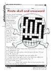 Pirate skull and crossword (1 page)