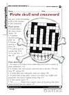 Pirate skull and crossword