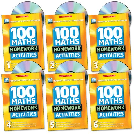 100 Maths Homework Activities Complete Set