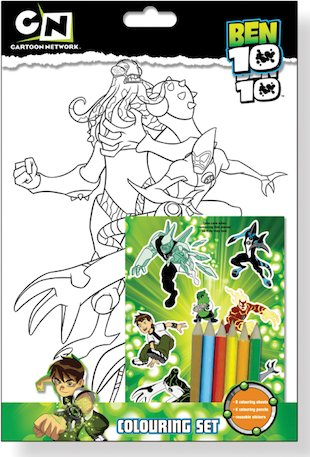 Ben 10 Colouring Set