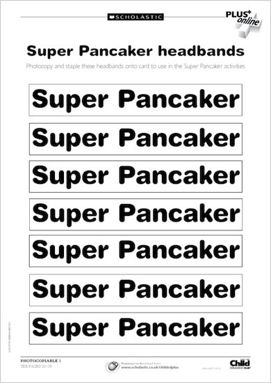 Pancake Day activity sheets