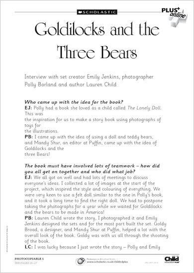 Goldilocks and the Three Bears: interviews