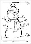 Colouring-in Christmas scenes (4 pages)