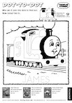 Thomas the Tank Engine - dot-to-dot (1 page)