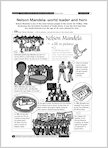 South Africa: Nelson Mandela: world leader and hero (2 pages)