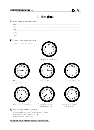 Sample Page: The time