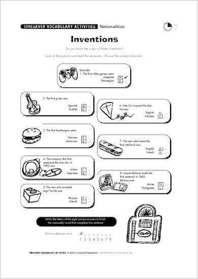 Sample Page: Inventions
