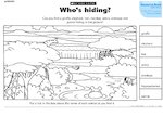 Who's hiding? activity (1 page)