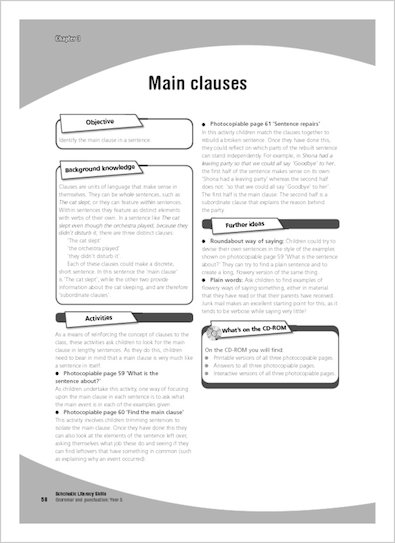 Main clauses