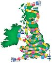 Illustrated map of Great Britain