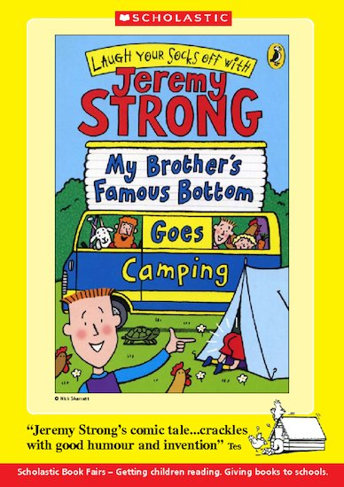 Book Talk Note: My Brother's Famous Bottom Goes Camping