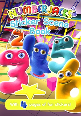 Numberjacks Sticker Scene Book