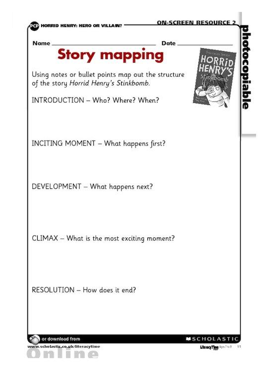 Horrid Henry's Stimkbomb - Story mapping