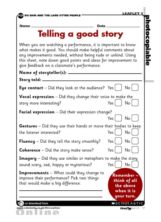 Telling a good story - evaluation report