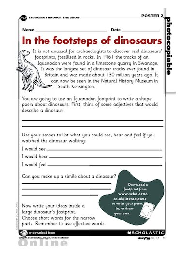 Dinosaur Poems 5