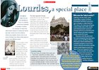 'Lourdes, a special place' information poster