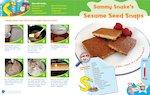Letterland recipe card: Sammy Snake's Sesame Seed Snacks (1 page)