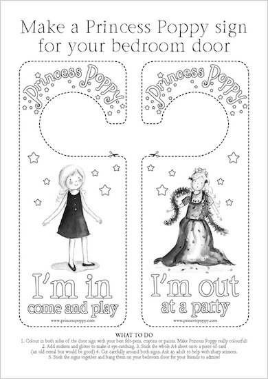 Princess Poppy Door Hanger