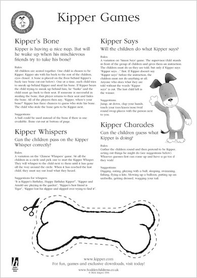 Kipper Games Ideas