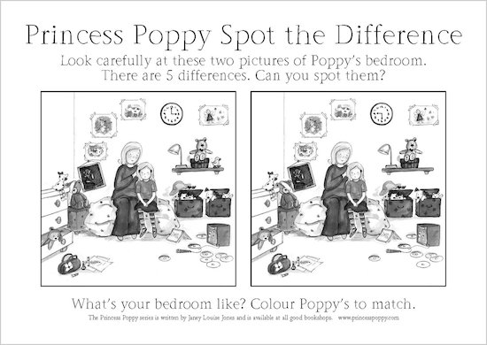 Princess Poppy Spot the Difference