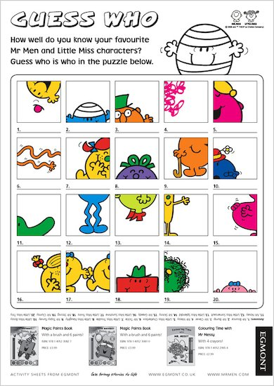 Mr. Men Guess Who