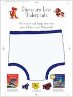 Dinosaurs Love Underpants Design Your Own Pants