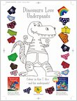 Dinosaurs Love Underpants Colouring