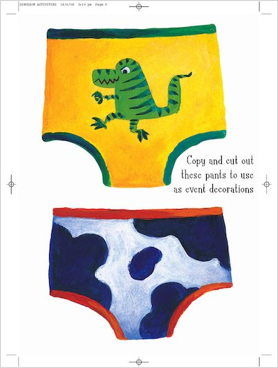 Dinosaurs Love Underpants Pant Decorations (2)