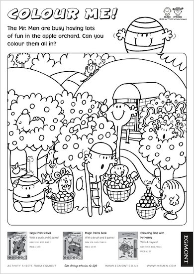 Mr. Men Colouring