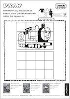 Thomas and Friends Drawing Activity
