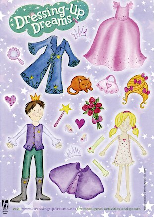 Dressing-Up Dreams sticker sheet