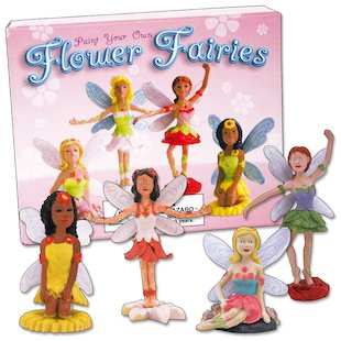 Paint Your Own Flower Fairies