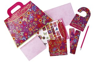 Funky Flowers Stationery Set