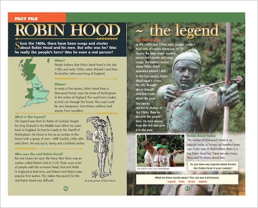 ELT Reader: Robin Hood: The Silver Arrow and the Slaves Fact File