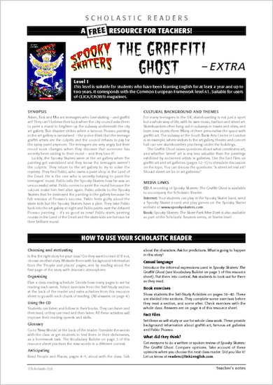 ELT Reader: Spooky Skaters Resource Sheets & Answers
