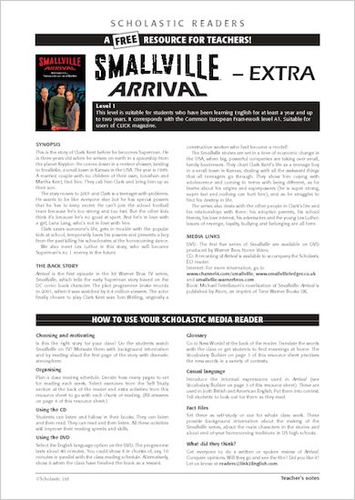 ELT Reader: Smallville: Arrival Resource Sheets & Answers