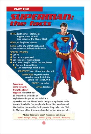 ELT Reader: Superman Returns Fact File